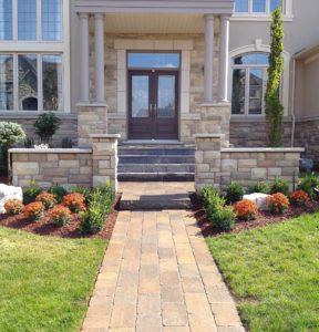 front stone walkway