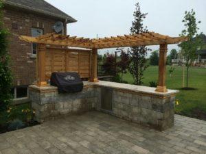 stone patio and trellis Hamilton, Ontario
