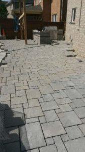 stone patio hardscaping