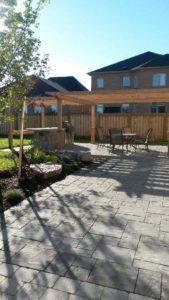 backyard patio in Hamilton Ontario