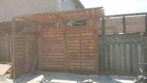 backyard trellis construction