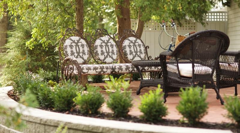 elegant patio hardscaping