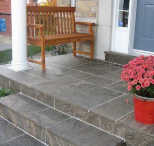 front porch stones